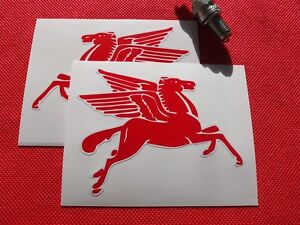 Pair-of-Mobil-oil-Pegasus-handed-stickers