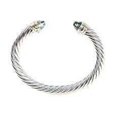 4e22da72a74f7 DAVID YURMAN Cable Classic Bracelet with Prasiolite   14K Gold 7mm  695 NEW