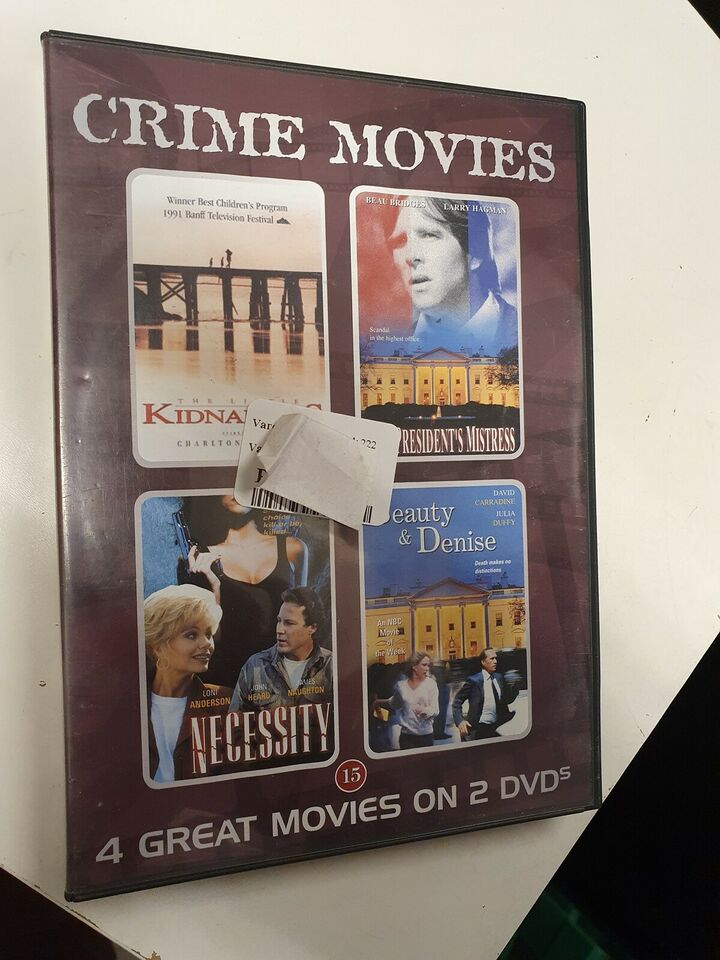 Crime movies 4 great movies on 2 dvds, DVD, krimi