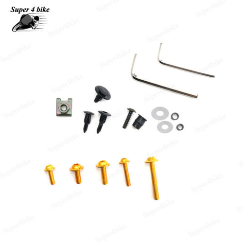 Complete Fairing Bolt Screw Bodywork Kit For Kawasaki NINJA EX500//500R 1987-1993