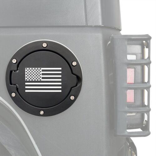 Flag for 07-17 Jeep Wrangler JK y 1 pcs Aluminum Gas Fuel Tank Cap Cover w// U.S