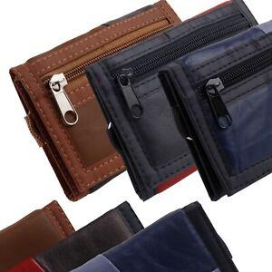 Para-Hombre-Chicos-Tri-Fold-Cartera-De-Cuero-Clip-de-cinturon-credito-tarjeta-de-debito