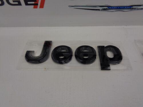 14-17 Jeep Wrangler New Front Grille Emblem Jeep Gloss Glossy Black Mopar Oem