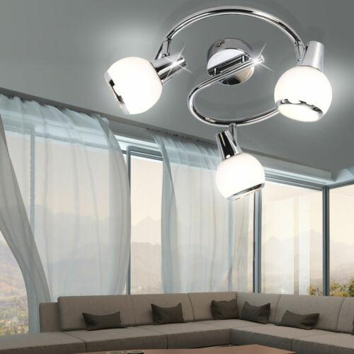 DEL 9 W Plafonnier ESS Chambre Chrome Projecteur pivotante verre Spots Big Light