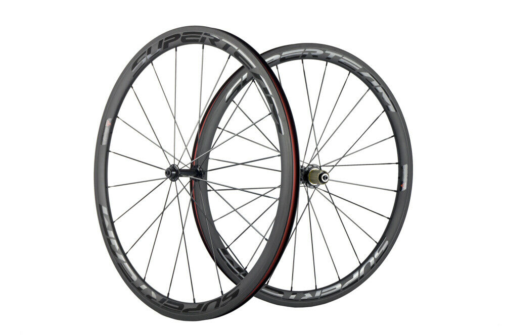 700c Carbon Wheels Road Wheelset Clincher 23mm Superteam Race Wheel