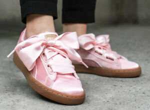 Details zu Puma Schuhe Damen Frauen Rosa Pink Samt Wns Basket Heart Vs Pink 366731 02 SALE