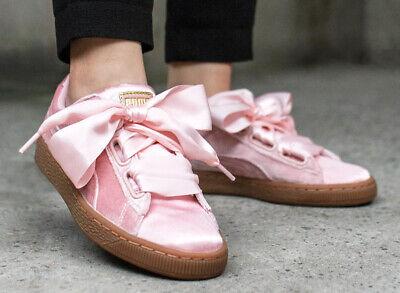 Puma Schuhe Damen Frauen Rosa Pink Samt Wns Basket Heart Vs