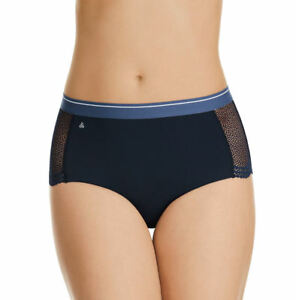 Jockey-Ladies-NLW-Captain-No-Panty-Line-Microfibre-Lace-Full-Brief-Size-10-New