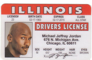 Michael-Jordan-Basketball-star-of-the-Chicago-Bulls-id-card-Drivers-License