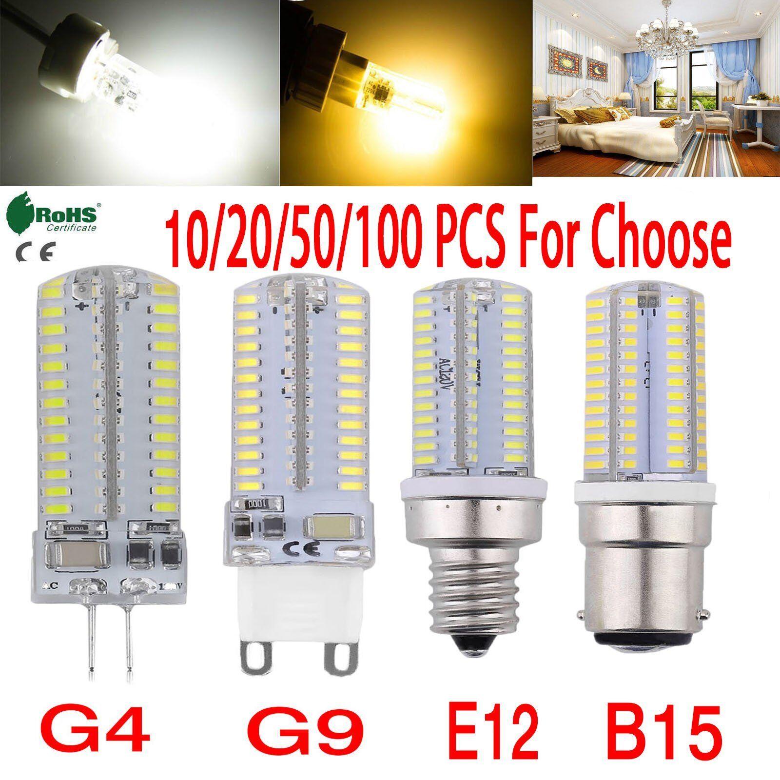 Highlight G4//G9//E12//E14//B15 2835 SMD 3//5//7//9W LED Corn Bulb Lamp Warm Cool White