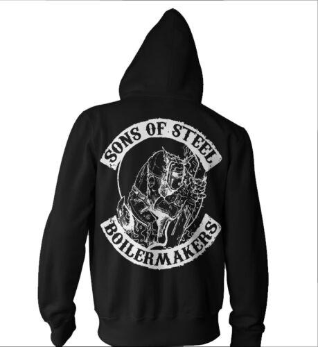 Boilermakers HOODIE shirt Union Boilermaker Brotherhood black Sons of Steel
