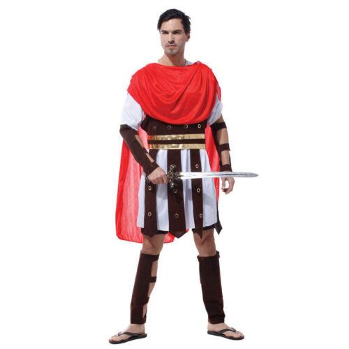 Men/'s Roman Gladiator Spartacus Greek Caesar Fancy Dress Costume 1 size Adult 6/'