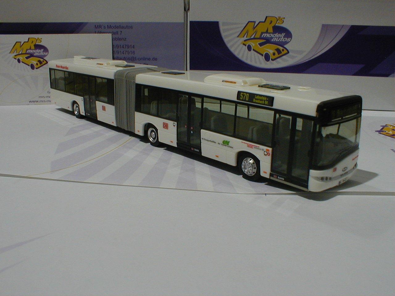 Vk   solaris u18 bus articulé  Deutsche Bundesbahn DB ligne 570  berline Ed. 100 st.
