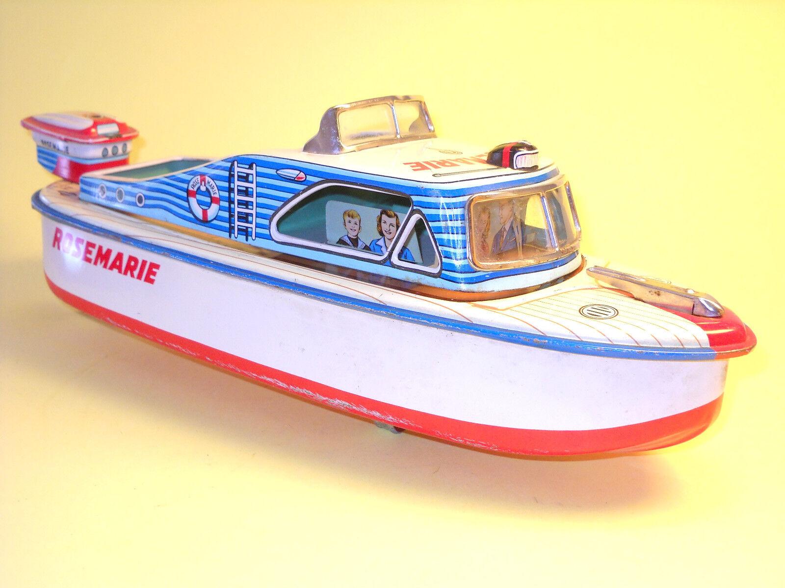 Tin Plate 3687 Cabin Cruiser  Rosemarie  par MARUSAN JAPAN en très bon état