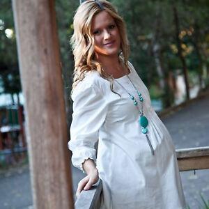 Maternity Casual Cotton Boho Dress
