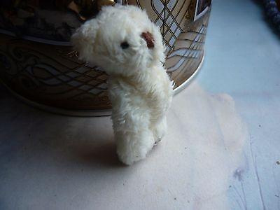 === MINIATUR TEDDY Teddybär mit ca. 4,8 cm Größe - beige flauschig (b) - Unikat