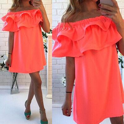 Sexy Women Summer Sleeveless Party Evening Cocktail Short Mini Dress Beach Dress