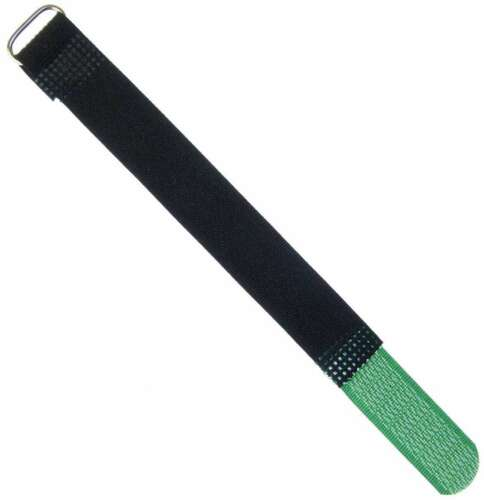 100 Klett Kabelbinder 160 x 16 mm dunkelgrün Kabelklettband Kabelklett Klettband