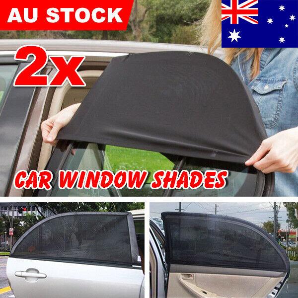 2x Universal Car Window Shades Socks Rear Side Seat Baby Kids Sun Protection