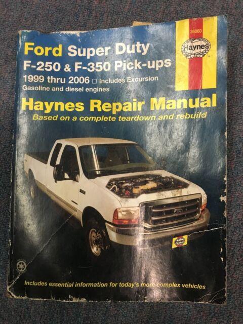 HAYNES REPAIR MANUAL 36060 FORD SUPER DUTY PICK UP /& EXCURSION /'99-10