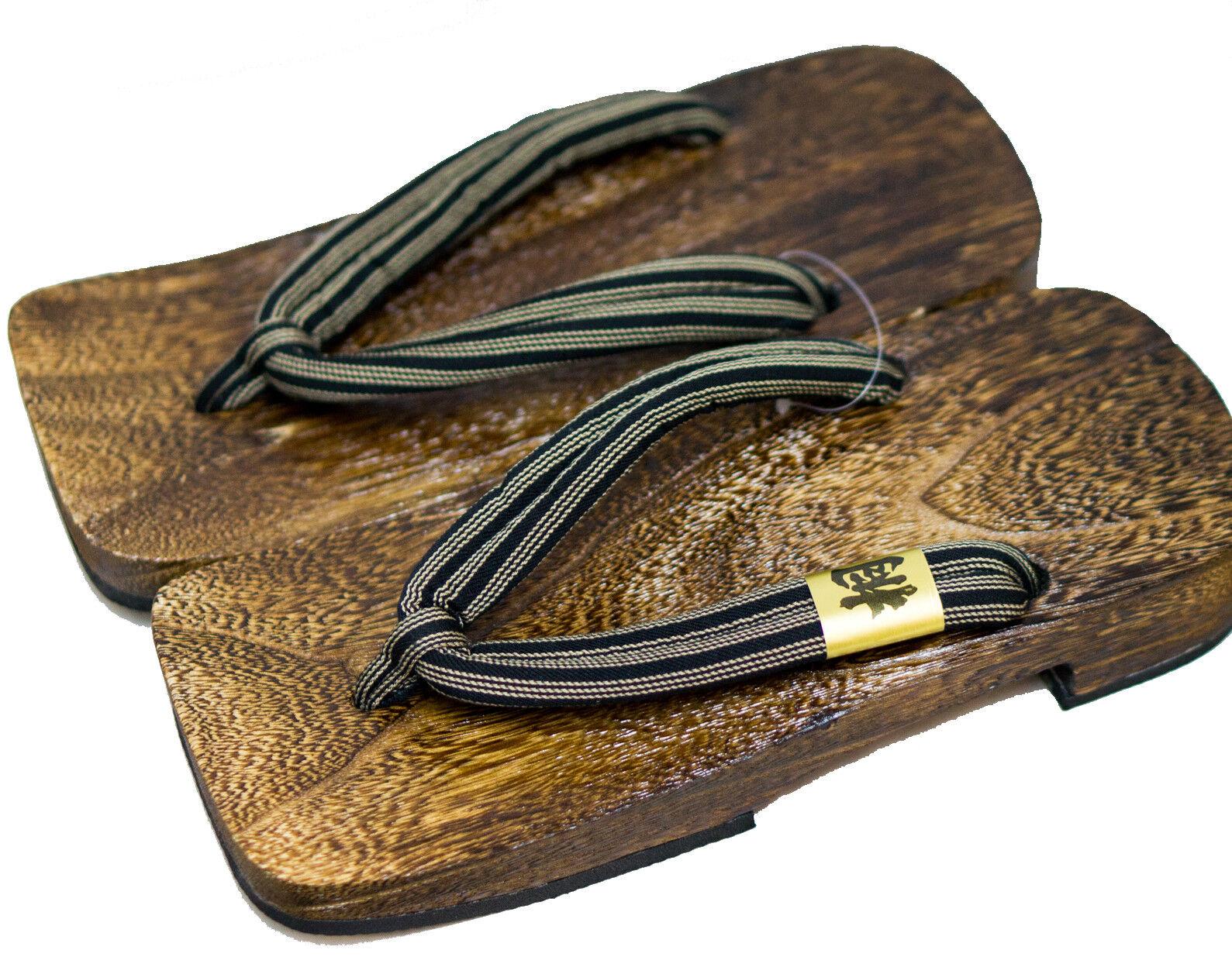 [Japan Made] Uomo Geta Paulownia Paulownia Paulownia Wood Sandals Traditional 30cm, Stripe 6921 c6091a