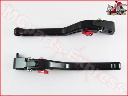 BMW K1200S 2004-2008 Long Adjustable Brake /& Clutch Levers Black