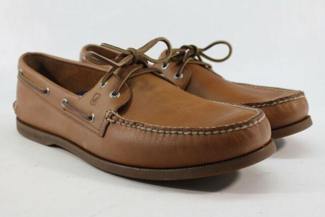 Sperry Top-Sider A//O 2-Eye Men/'s Amaretto//Black Sole Boat Shoes FLSAMP