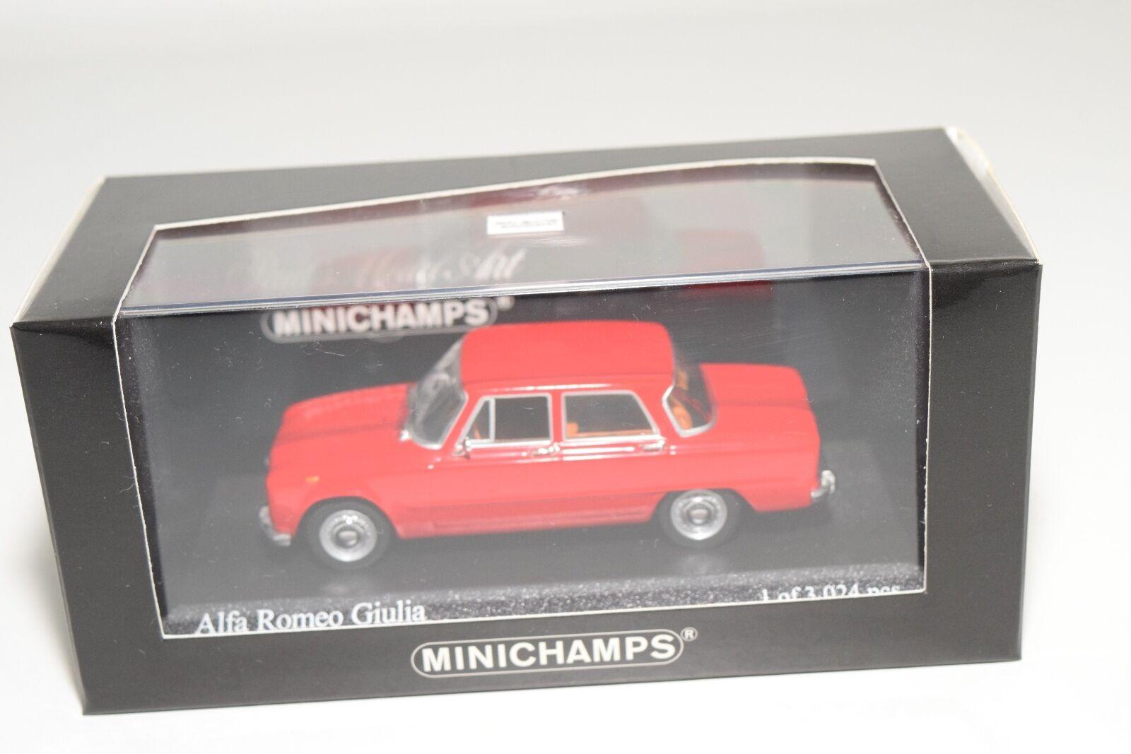 . MINICHAMPS ALFA ROMEO GIULIA 1970 rosso MINT BOXED