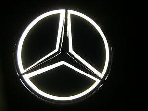 White universal replica led illuminated star emblem for Mercedes benz illuminated star