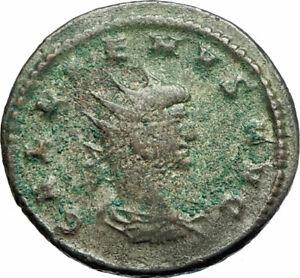 GALLIENUS-son-of-Valerian-I-266AD-Authentic-Ancient-Roman-Coin-Sol-Sun-i76055