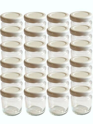 100 Sturzgläser 53 ml Marmeladengläser Einmachgläser Einweckgläser Weiß