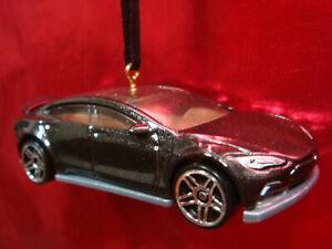 TESLA MODEL S ELECTRIC CAR BLACK CHRISTMAS TREE ORNAMENT ...