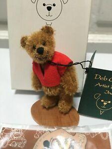 Deb-Canham-Artist-Mohair-Teddy-Bears-WINNIE-THE-POOH-Miniature-DISNEY-DCAD-Exclu