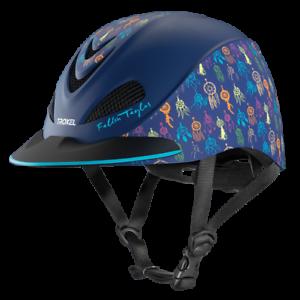 Troxel Riding Helmet Duratec Navy Dreamcatcher Fallon Taylor Safety Low Profile