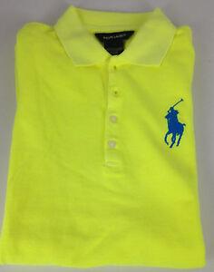 Ralph lauren polo shirt dress girls 3t yellow blue big for Blue and yellow dress shirt