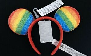 OFFICIAL DISNEY  MICKEY MOUSE RAINBOW PRIDE EARS HEADBAND ADULT BRAND NEW
