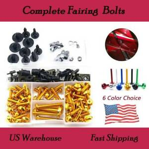For Suzuki GSXR GSX R 600 750 K6 2006 2007 Complete CNC bodywork Fairing Bolt Screws Kit M5 M6