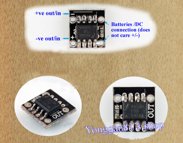 4A Auto DC to DC Voltage Polarity Exchange and Reverse Protection circuit charge