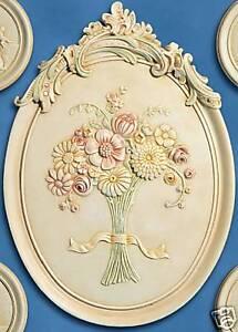 Bassorilievo con fiori stucchi quadro decori in gesso ceramico decorato a mano ebay - Decori in gesso ...