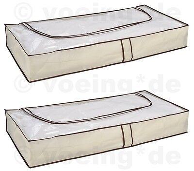 2 Stück Unterbett Kommoden Unterbettkommode Unterbett Kommode Atmungsaktiv Beige Superieure (In) Kwaliteit