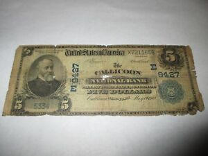 5-1902-Callicoon-New-York-NY-National-Currency-Bank-Note-Bill-Ch-9427-RARE