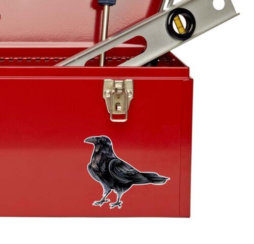 2 x 10cm Raven Crow Vinyl Sticker iPad Laptop Car Bike Helmet Blackbird #9191