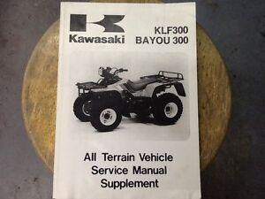 kawasaki manual klf300 bayou 300 ebay rh ebay com 1988 Kawasaki Bayou 300 1992 Kawasaki Bayou 300