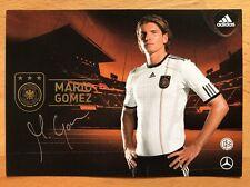 Mario Gomez 1. AK DFB 2010 Autogrammkarte original signiert