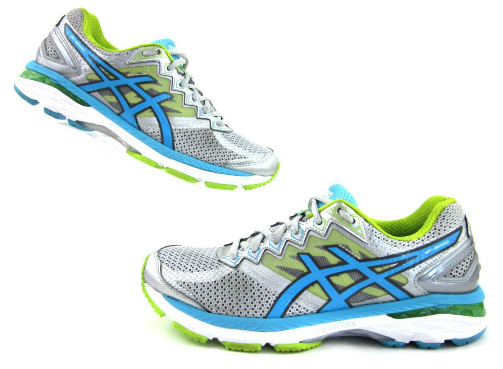 Asics GT-2000 V4 Running shoes Silver   Turquoise   Lime Punch US 8.5