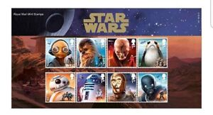 Star-Wars-Stamps-2017-The-Last-Jedi-Presentation-Pack-Limited-edition-MINT