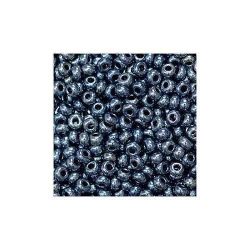 transparent Anthrazit Rocailles 20g 2,5mm