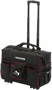 Buy Husky Pro Grade Rolling Tote Bag Storage Case 22 In Wheels