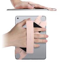 Universal Tablet Hand Strap Holder Swivel Pu Leather Handle Grip W Elastic Belt