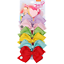 New JOJO SIWA 6Pcs//Set Rainbow Knot Ribbon Hair Bow Lot For Girls Baby Xmas Gift